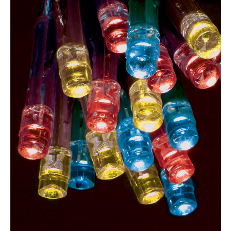Premier LV111049M 35 Static & flashing Battery Powered Multi coloured LED Christmas Lights - FREE DELIVERY