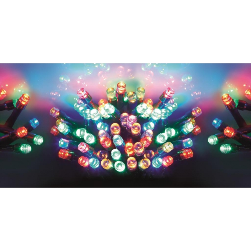 Premier LB112382M 50 Outdoor Multi Action Multi Coloured LED Lights With Tim