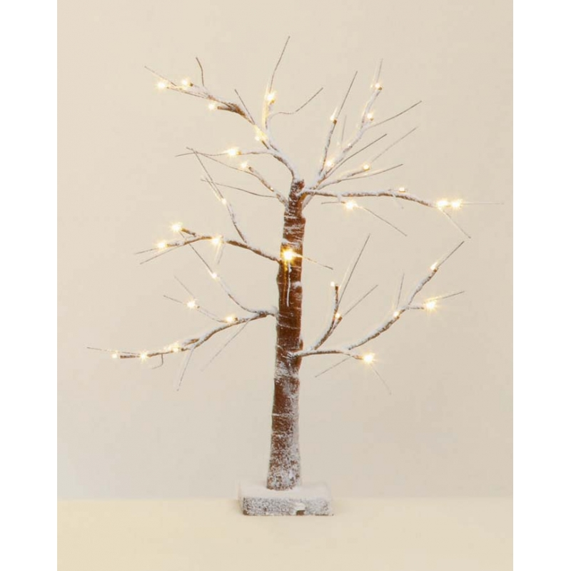 Premier 60cm Battery Operated Beautiful Snowy Tree with 36 Warm White LED's