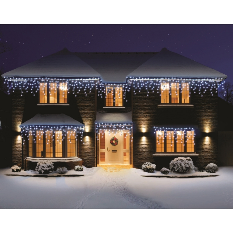 Premier 240 Led Snowing Icicles Supabrights In White