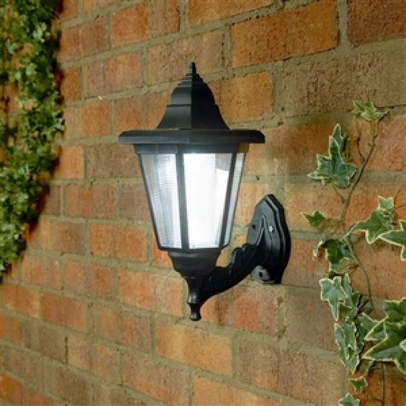 Solar Wall Lantern Lights : Premier BS111066 LED Solar Wall Lantern, Outdoor Garden Lights Garden Lighting Kitchen ...