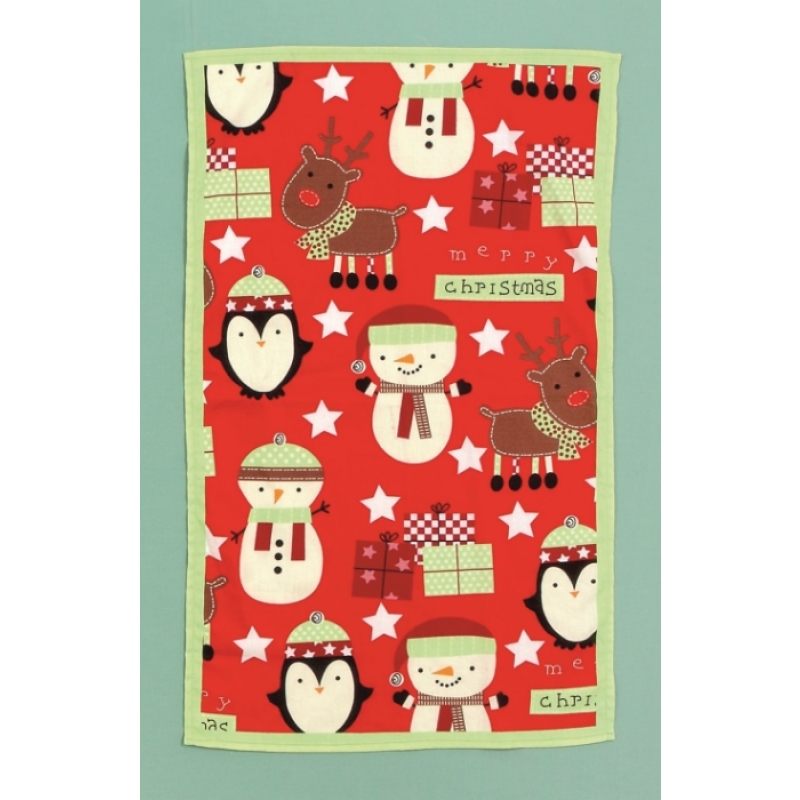 Premier PL126048MC Red Merry Christmas Tea Towel - FREE DELIVERY ...