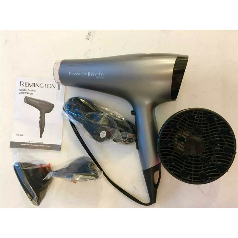 Remington AC8008 Keratin Protect Womens Hair Dryer 2200W