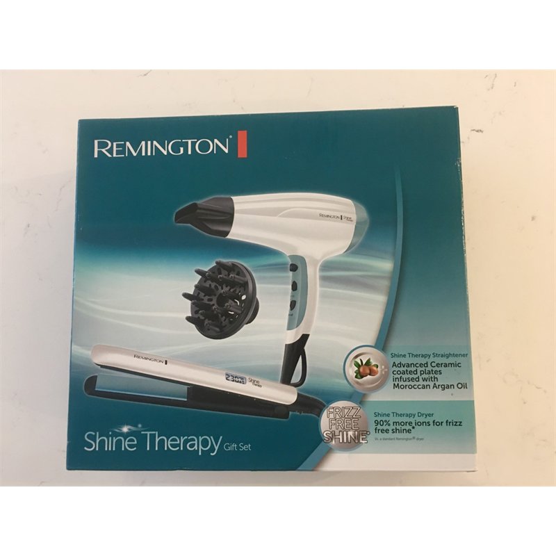 Remington Hair Straightener and Hair Dryer Shine Therapy Gift Set S8500GP
