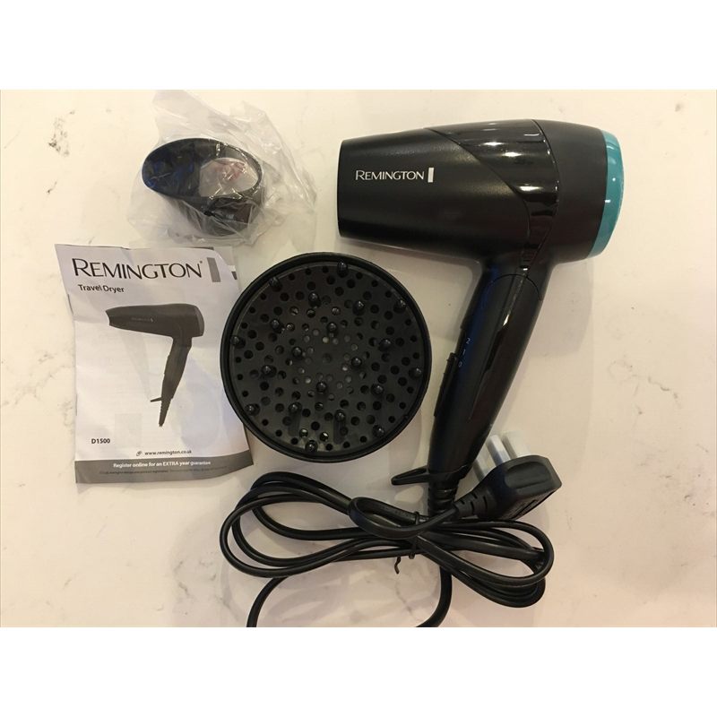 Remington Compact Travel Hair Dryer 2000W  - Black D1500