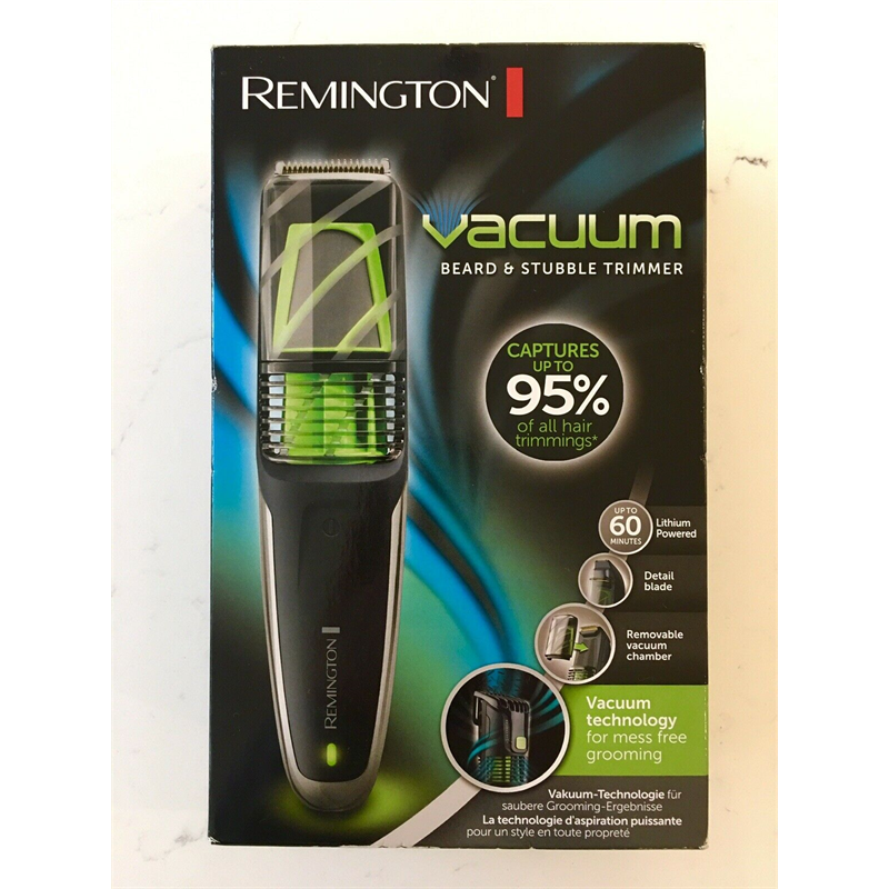 Remington Vacuum Beard Trimmer - Green  MB6850