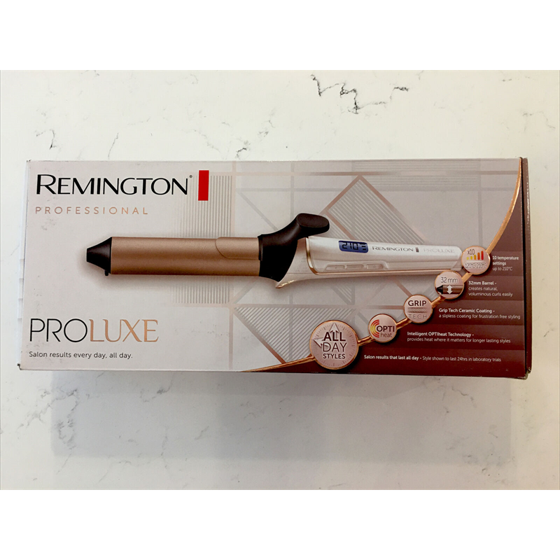 Remington Ci9132 ProLuxe Women's Hair Curling Tong OptiHeat 210°C - Rose Gold