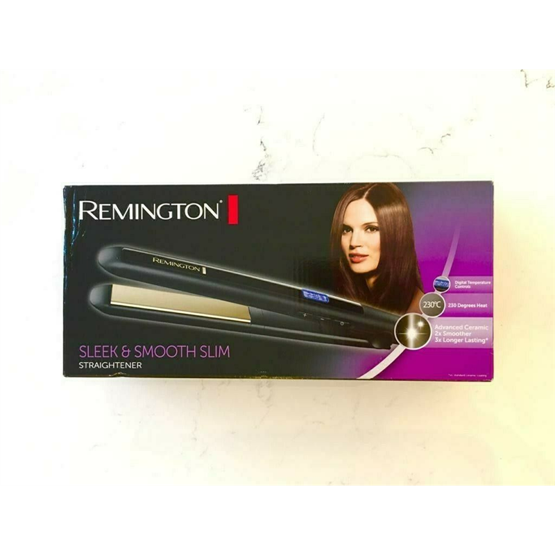 Remington S5500 Sleek and Smooth Slim Ceramic Hair Straightener - Black